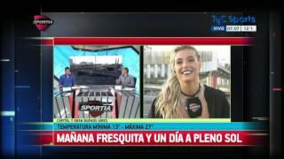 María Sol Pérez y un informe del clima accidentado en Sportia