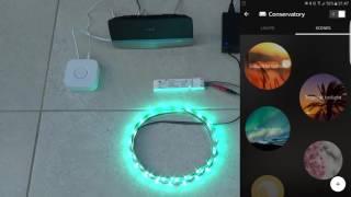 Amazon Echo with inexpensive Colour LEDs and Philips Hue Bridge