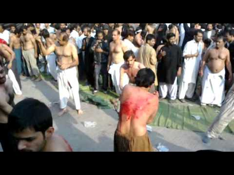 Matam E Zanjeer Zani 10 Moharram Ul Haram 2011 Gulistan E Zehra s.a Abot Road Lahore