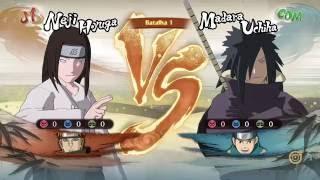 Naruto Storm 4 Dublado PT-BR Neji e Pain vs Madara e Konohamaru
