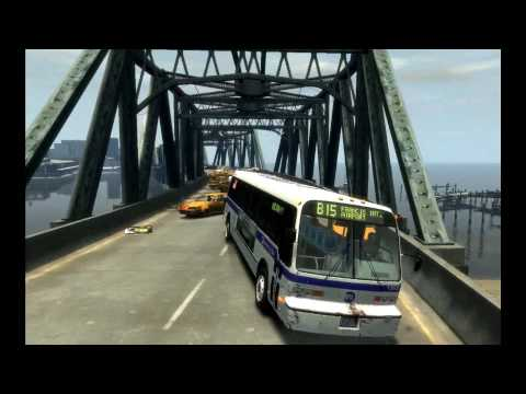 GTA IV Heavy Bus Mod Bridge of Death with sound HD 1080P