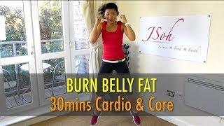 30 Mins Cardio & Core Interval (Burn Belly Fat!) - Beginner & Advance