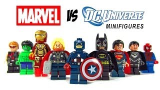 LEGO Marvel vs DC Superheroes KnockOff Minfigures Set 3 w/ Superman Spiderman & Batman
