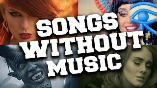 Popular Music Videos Without Music (Music vs. Real Sounds) #2