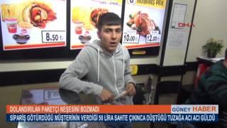 Adanada dolandırılan dönerci paketçisi neşesini bozmadı güldü