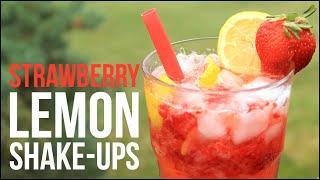 Strawberry Lemon Shake-Ups!! Homemade Strawberry Lemonade Recipe