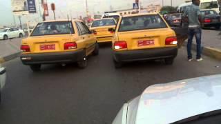 رقص سيارات سايبا في البصرة تقاطع الطويسة
