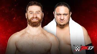 WWE FASTLANE 2017 Sami Zayn vs Samoa Joe