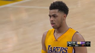 D'Angelo Russell Career High 2016.03.01 vs Nets - 39 Pts, 8 Threes, CLUTCH!!