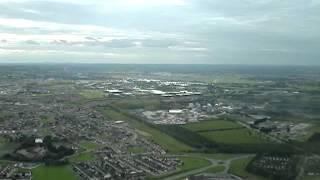 Dublin, Ireland's Casement Air Base, Boeing 757 landing runway 29.  EIME.