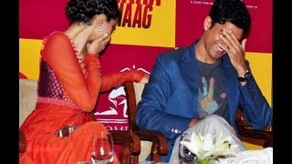 Bhaag Milkha Bhaag promotion. Sonam Kapoor & Farhan Akhtar cover up. Wonder y?
