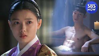 SBS [비밀의 문] - 지담(김유정) 세자(이제훈)의 복근과 마주하다