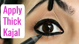 मोटा काजल कैसे लगाएं   How to Apply Thick Kajal & Eyeliners for Beginners   Anaysa