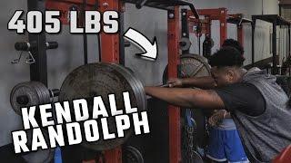Watch Alabama 4-star OT Kendall Randolph squat 405 pounds