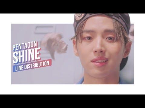 PENTAGON - SHINE Line Distribution (Color Coded) | 펜타곤 - 빛나리
