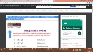 Listen all bangla FM/AM radio on online 65++ stations!
