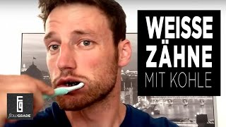 So bekommst du weisse Zähne – Mit Aktivkohle Zähneputzen