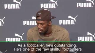 Usain Bolt hails Neymar as one of the best footballers in the world