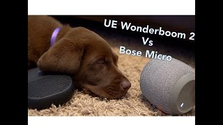 UE Wonderboom 2 vs Bose Micro, You will not believe which one my puppy picks!