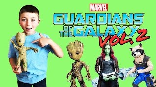 DISNEY- Guardians of the Galaxy Volume 2!! Toy Unboxing and Review - Groot, Gamora, Rocket Racoonn