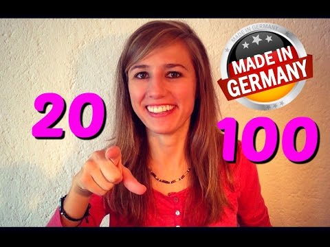 GERMAN LESSON 13-3: The Numbers from 20 to 100 in German