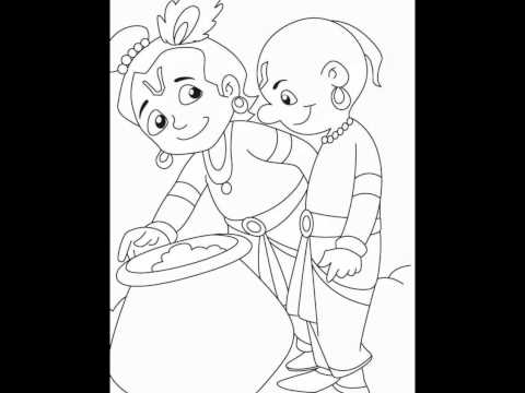 Krishna coloring pages by http://cool-findz.com/
