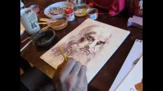 How to make Medieval Paint - Egg Tempera Paint Like DaVinci Made