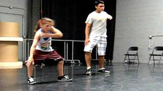 Amazing 10 year old Emily Hoffman at Hip Hop Practice 2011 being choreo by Mikey Trasoras