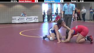 63 kg 3rd - Forrest Molinari (King) vs Mallory Velte (Burnaby Mountain)