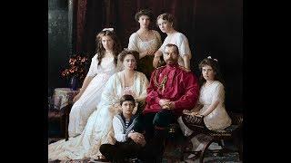 A última família do Czar em cores vivas