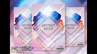 Easy Way to Create a Simple Abstract Full Color Poster Using Photoshop