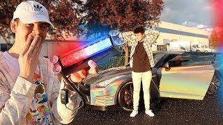 USING FAKE POLICE LIGHTS PULLOVER PRANK! (FREAKOUT) | David Vlas