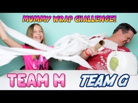 Mummy Wrap Challenge Team M vs Team G