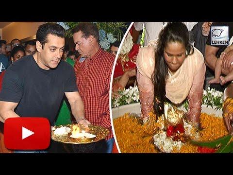 (Video) Salman Khan's Ganpati Visarjan 2016   LehrenTV