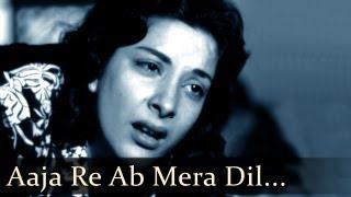 Aah - Aaja Re - Raj Kapoor - Nargis - Bollywood Sad Songs - Lata Mangeshkar - Mukesh