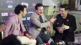 Karan Johar, Saif Ali Khan and Varun Dhawan MOST FUNNY Interview With Media