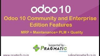Odoo 10 Community and Enterprise Edition Features