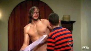 Two and a Half Men Ashton Kutcher debut Walden Schmidt meets Alan Harper