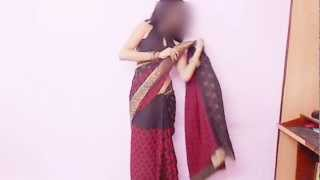 How To Wear Low Waist Bollywood Saree-How To Drape Loose Waist Bollywood Style Sari