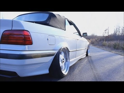 Stanced E36 BMW on BBS