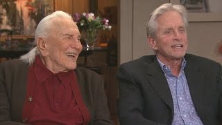 Watch Michael Douglas Sneak Up On His Legendary Dad