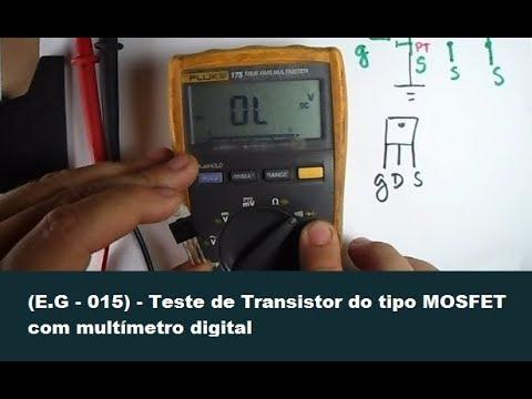 Teste de Transistor do tipo MOSFET com multímetro digital
