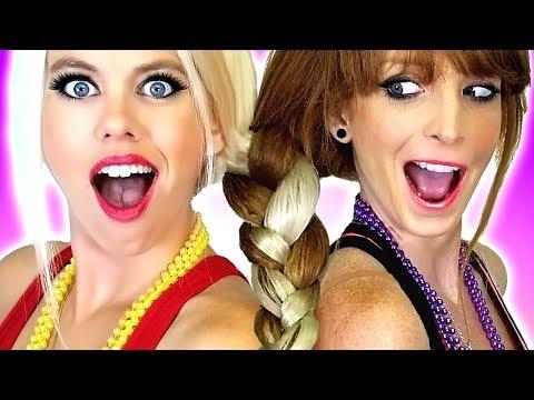 Hair Challenge Sisters Make One Braid Plus DIY Beauty & Makeup Hacks and Tips