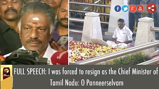 O Panneerselvam was Forced to Resign as Chief Minister of Tamil Nadu | FULL PRESS MEET