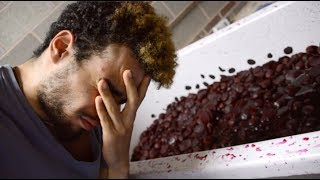 ROMELL MADE ME EAT OLD BEETROOT FROM THE TGF BATHING IN VIDEO!