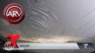 Tormenta de granizo en Missouri destruye parabrisas | Al Rojo Vivo | Telemundo