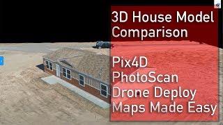 DJI Mavic 2 Pro Drone 3D Model - Pix4D, Drone Deploy, Maps Made Easy, & Photoscan comparison