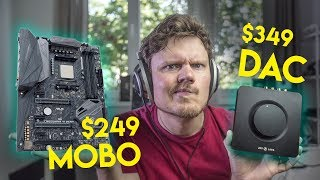$349 Headphone AMP vs $249 On-board Sound... Who Wins???