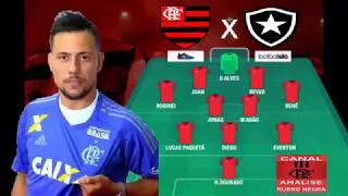 Flamengo x Botafogo escalação