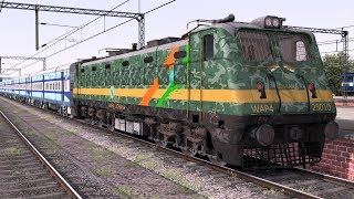WAP4 Military Livery with Cabin | Hybrid LHB Rakes | Train Simulator 2018/Railworks